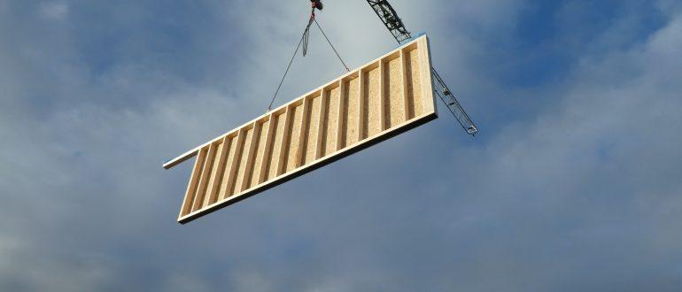 Hybridbau aus Holz und Beton für Gewerbebau - Kombination von Holztafelbauwänden mit Beton-Hohlkörper-Decken, NRW